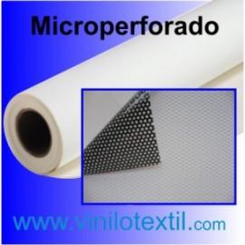 Vinilo adhesivo blanco brillo microperforado