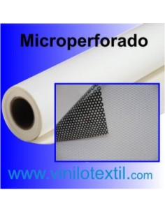 Vinilo adhesivo blanco brillo microperforado