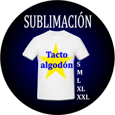 Camiseta sublimación adulto