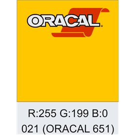Oracal 651 Yellow