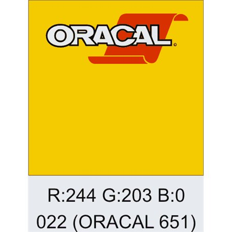 Oracal 651 Light Yellow