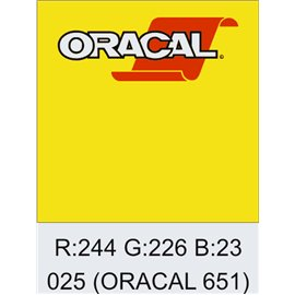 Oracal 651 Brimstone Yellow