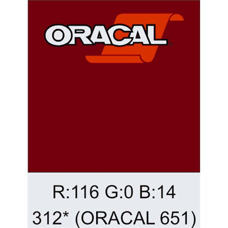 Oracal 651 Burgundy