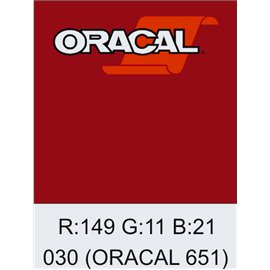 Oracal 651 Dark Red