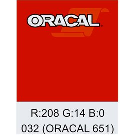 Oracal 651 Light Red