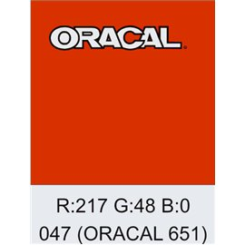 Oracal 651 Orange Red