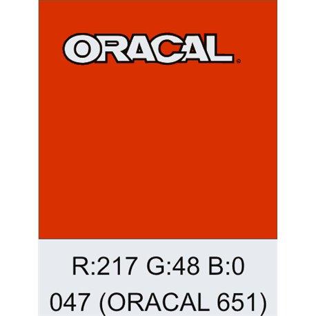 Oracal 651 Orange Red