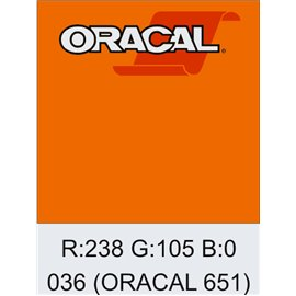 Oracal 651 Light Orange