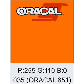 Oracal 651 035 Pastel Orange