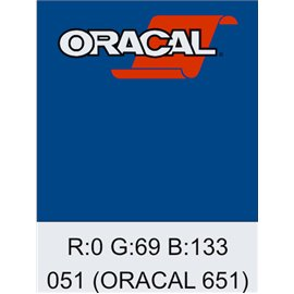 Oracal 651 Gentian Blue