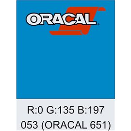 Oracal 651 Light Blue