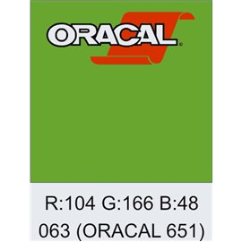Oracal 651 Lime-tree Green