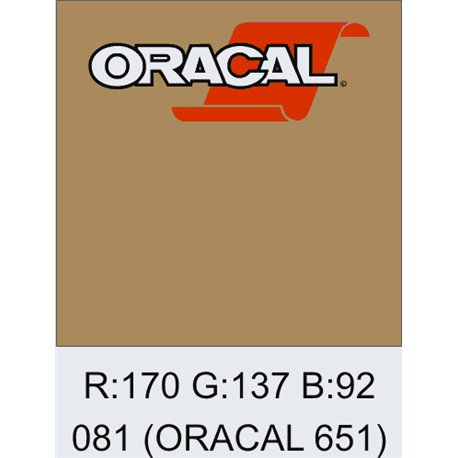Oracal 651 Light Brown