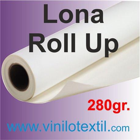 Lona Blanca satinada 280gr ROLL UP