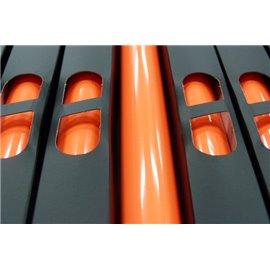 Lamina Foil Neon Naranja n77