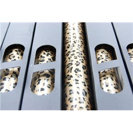 Lamina Foil Leopardo B Dorado n100