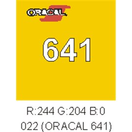 Oracal 641 Amarillo Light 022