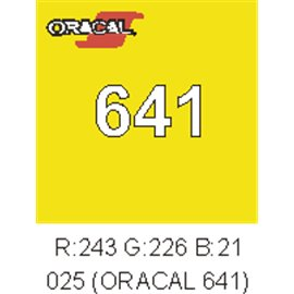 Oracal 641 Amarillo Limón Brimstone 025