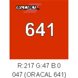 Oracal 641 Orange Red 047