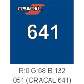 Oracal 641 Gentian Blue 051