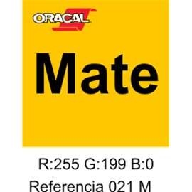 Oracal 631 Amarillo 021 MATE