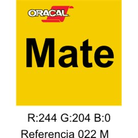 Oracal 631 Amarillo Light 022 MATE