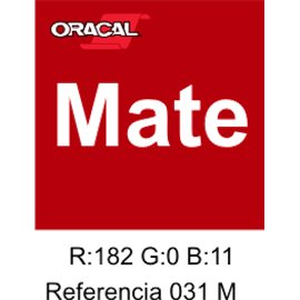 Oracal 631 Rojo 031 MATE
