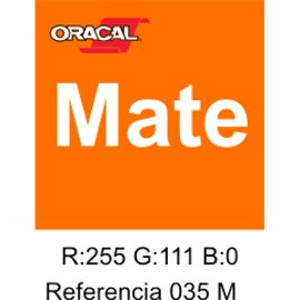 Oracal 631 Pastel Orange 035 MATE