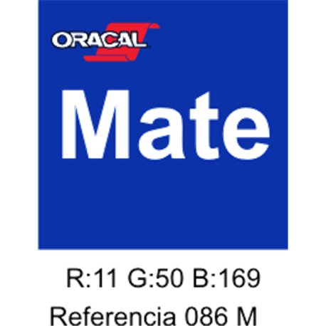 Oracal 631 Brillant Blue 086 MATE