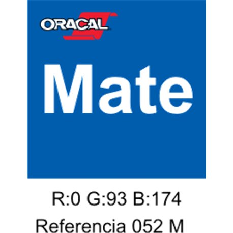 Oracal 631 Azure Blue 052 MATE