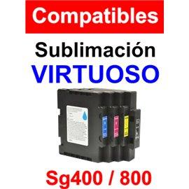 Cartuchos sublimación compatibles sg400 800