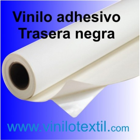 Vinilo Adhesivo Blanco Brillo Trasera Negra