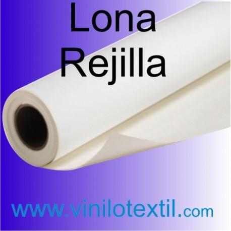 Lona Blanca Brillo Rejilla 370 gr.