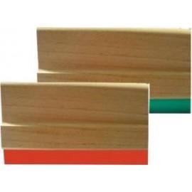 Porta regletas madera con goma roja