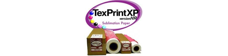 papel de sublimación para impresoras y plotters con tintas de sublimación.